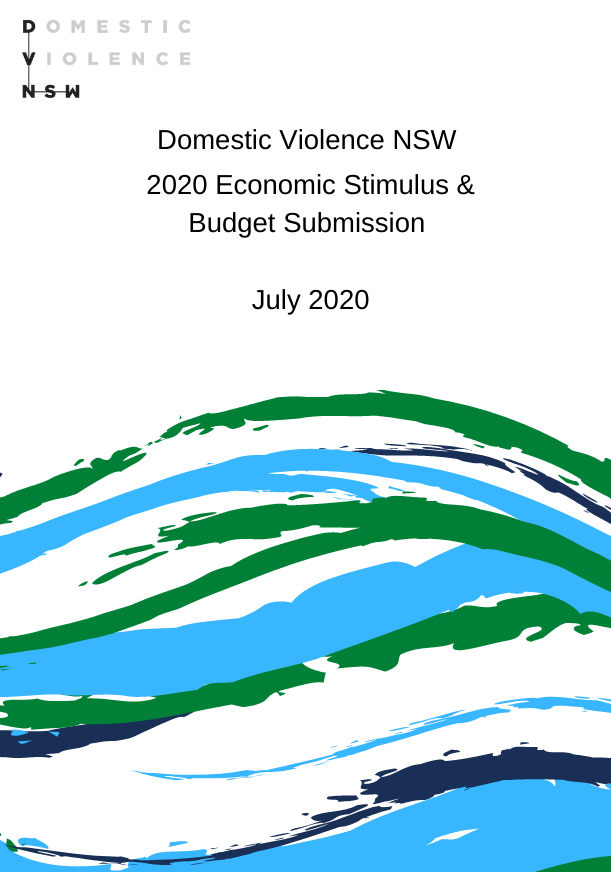 Economic Stimulus and Budget Submission Cover